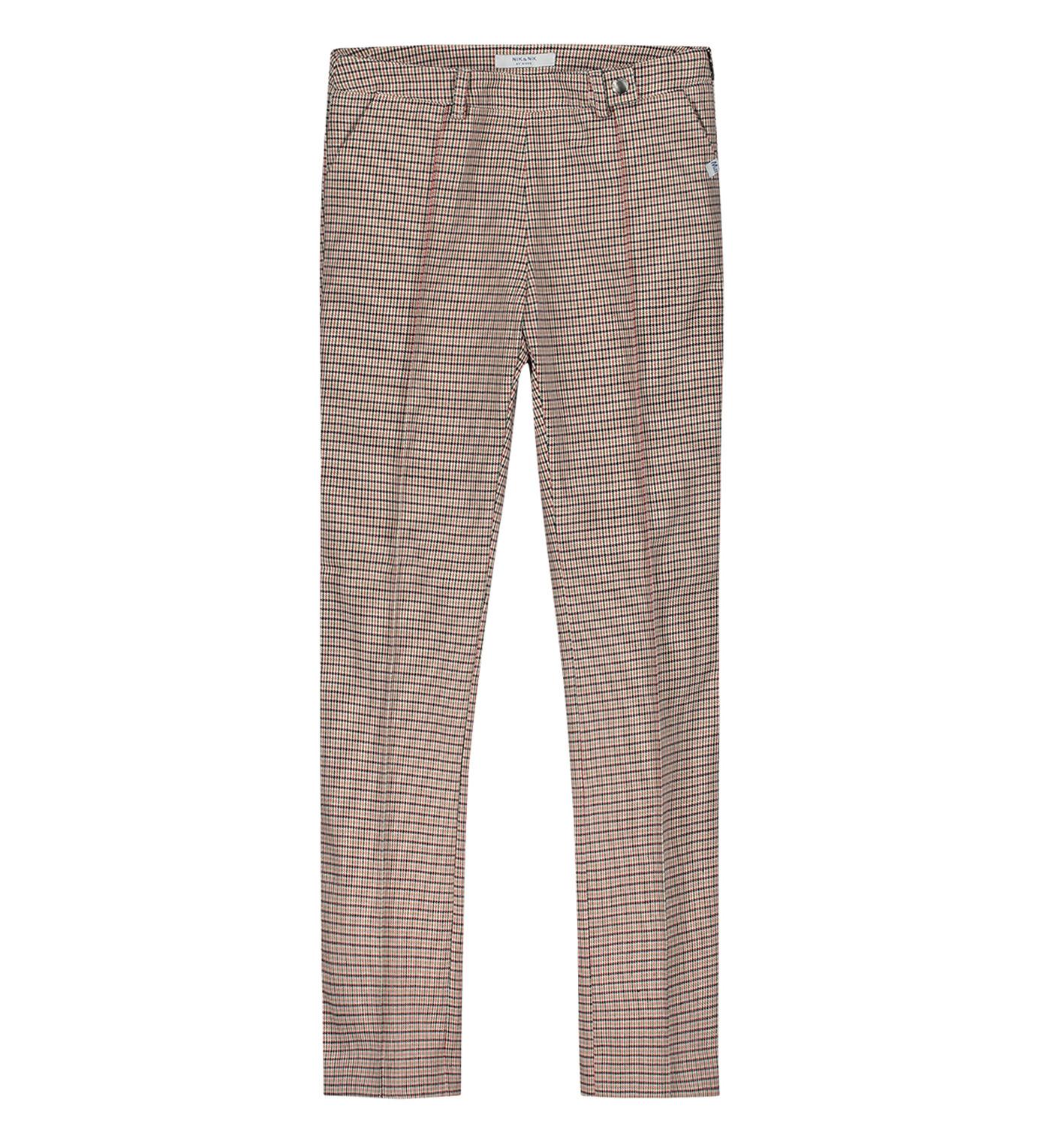 Afbeelding van Nik & Nik Lange broek g2-125 1905 estelle pants rood ecru