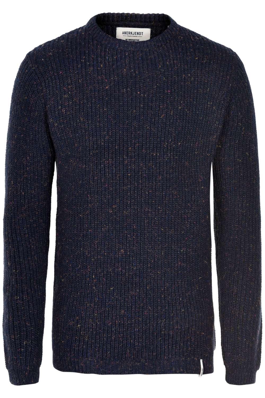 Afbeelding van Anerkjendt Aktheo knit blue melange blauw