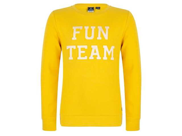 Afbeelding van Indian Blue Sweater crewneck fun team geel