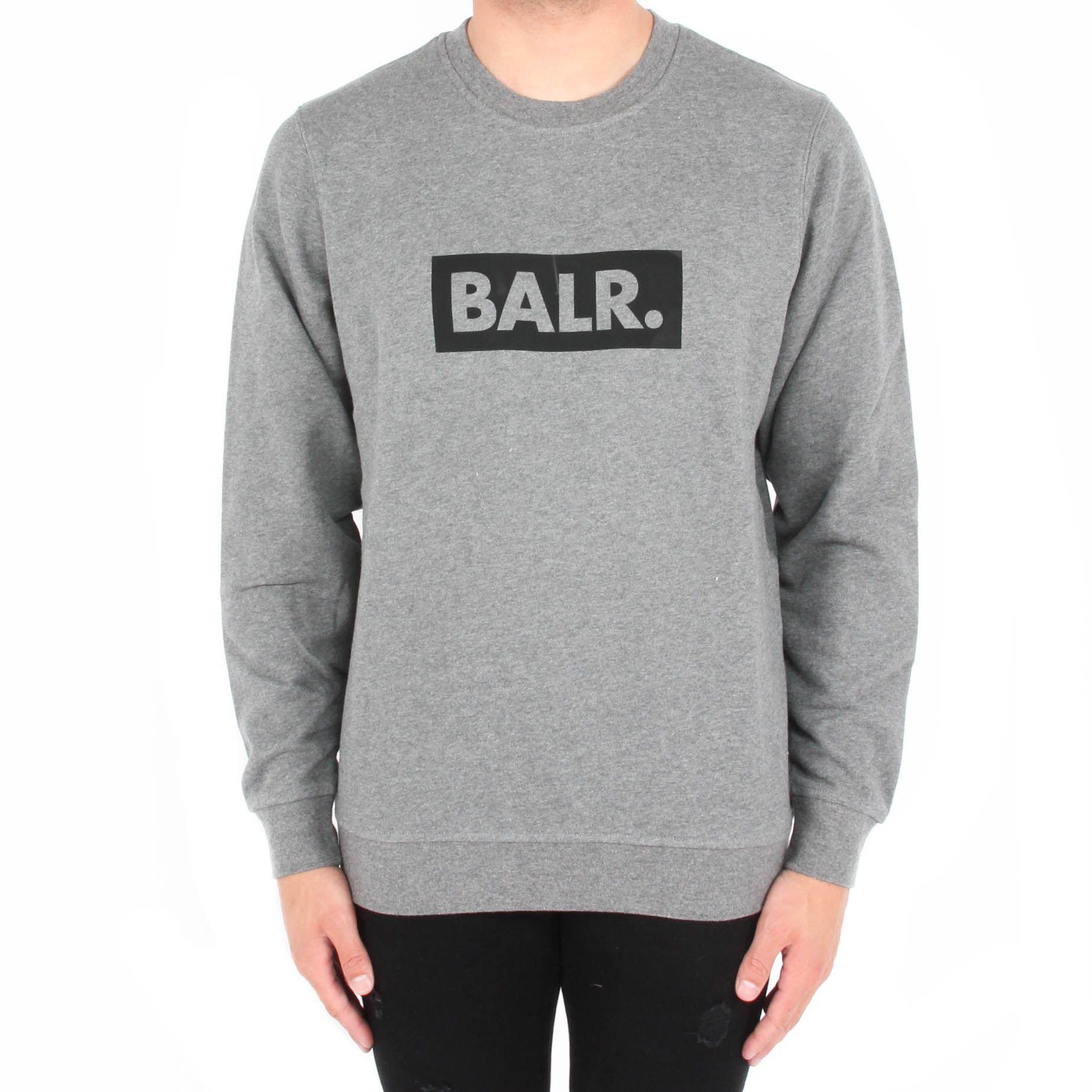 Afbeelding van BALR. Brand cub crew neck sweater grijs