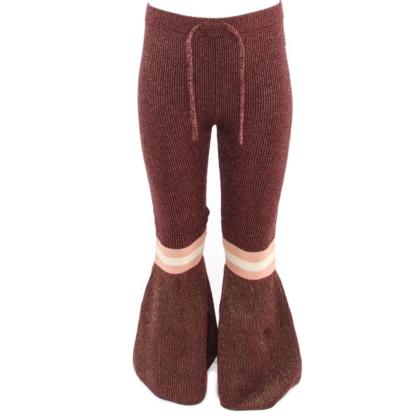 Afbeelding van Reinders Daisy flair pants lurex rood