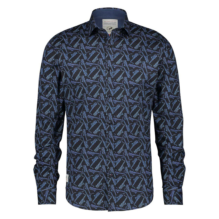 Afbeelding van A Fish Named Fred Shirt blauw