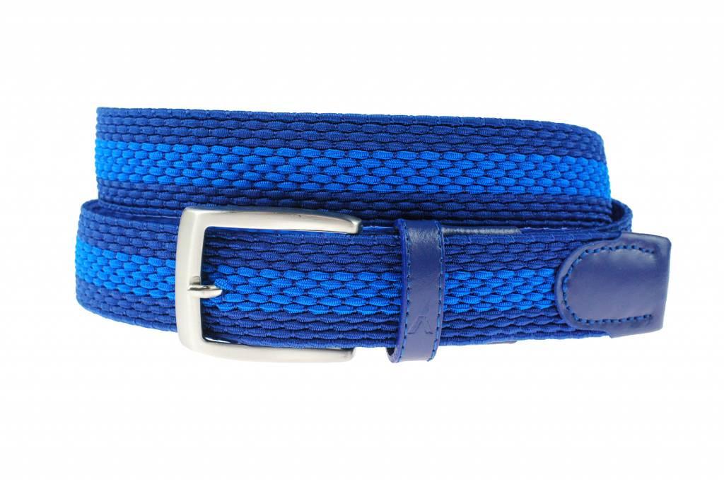 Afbeelding van Alberto Duo-colour webbing riem blauw