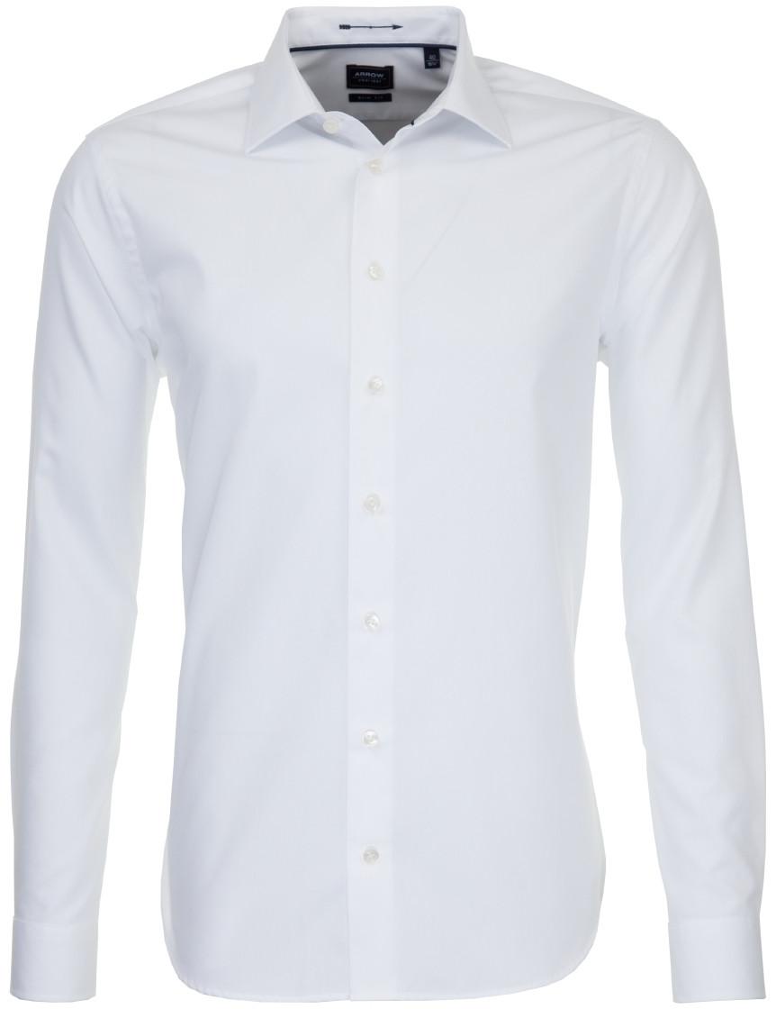 Afbeelding van Arrow Heren overhemd poplin fitted wit