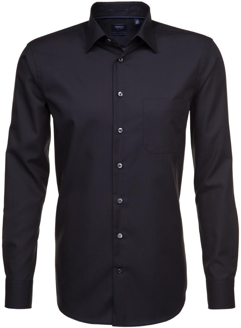 Afbeelding van Arrow Heren overhemd poplin borstzak zwart