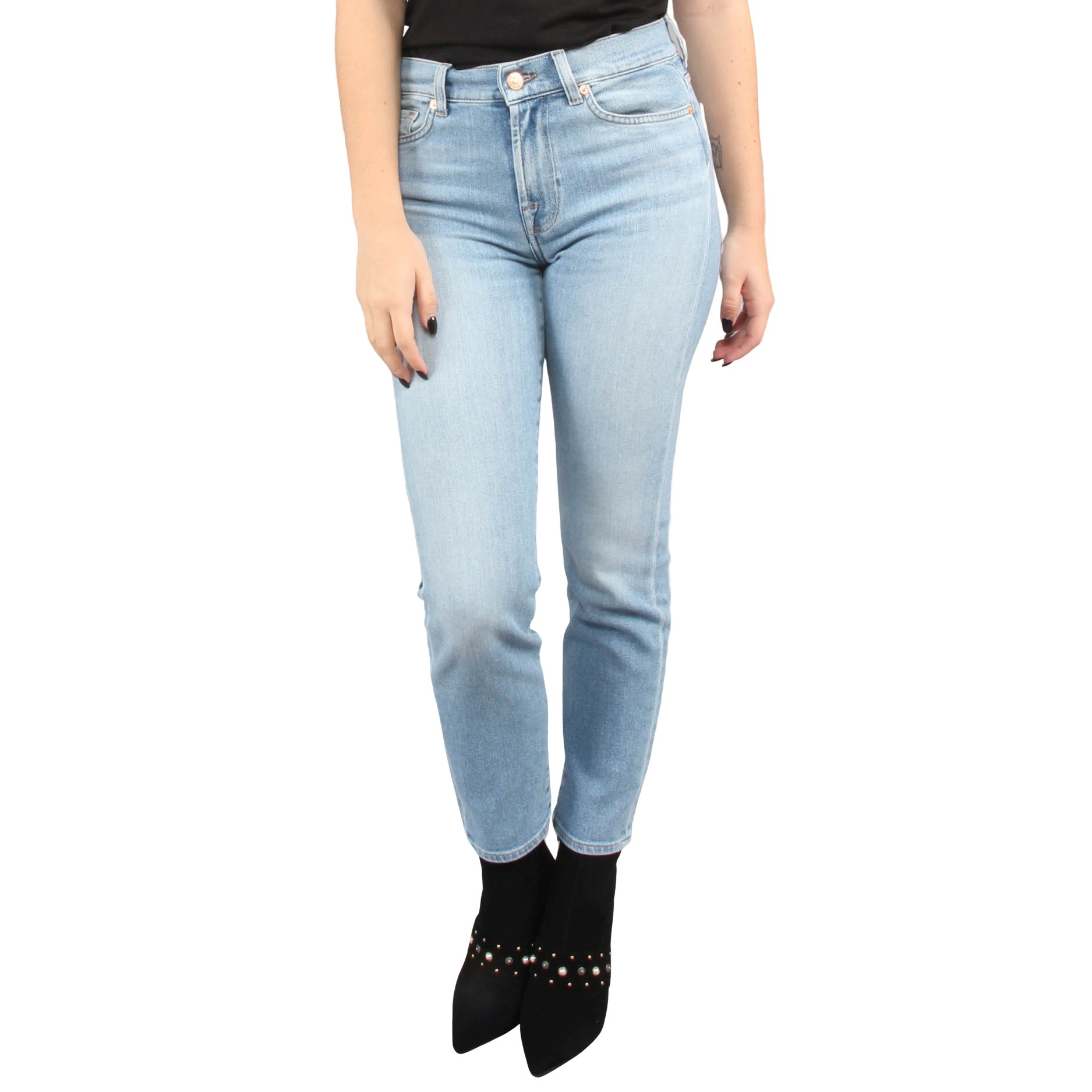 Afbeelding van 7 For All Mankind Roxanne ankle luxe blauw