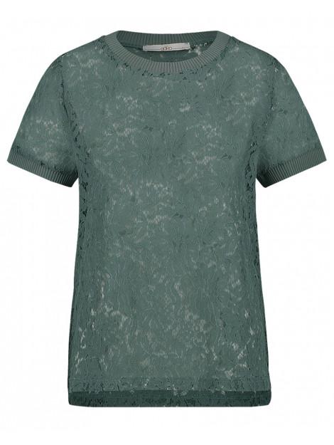 Aaiko Blouse fleuron groen Aaiko T-shirt FLEURON large