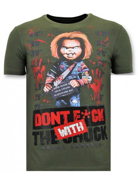 Local Fanatic T-shirt bloody chucky angry print 11-6388G large