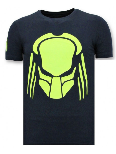 Local Fanatic T-shirt met opdruk predator neon print 11-6396B large