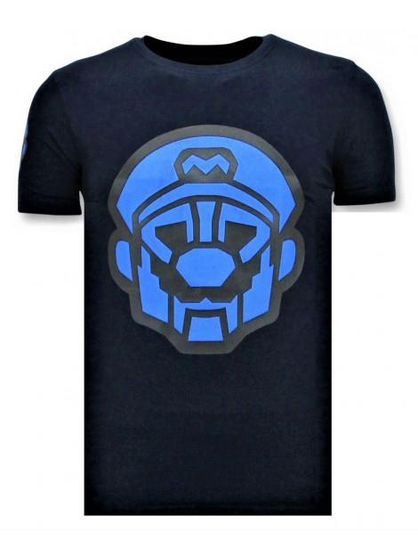 Local Fanatic T-shirts met print mario neon opdruk 11-6399B large