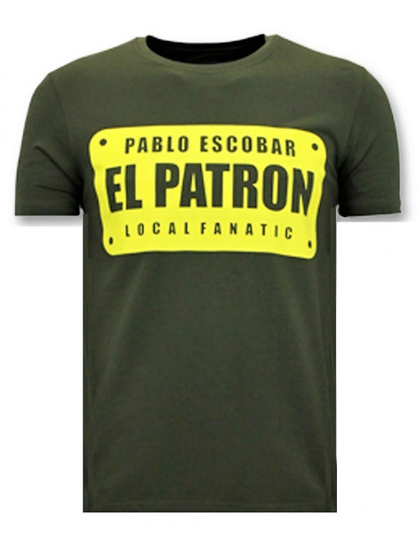 Local Fanatic T-shirts met print pablo escobar el patron 11-6397G large
