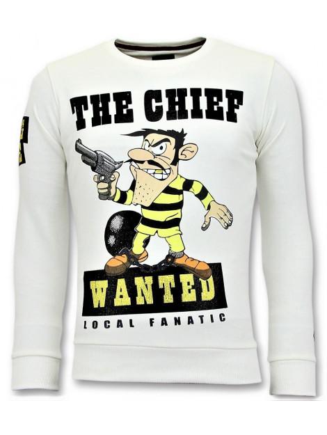 Local Fanatic Rhinestones sweater the chief wanted trui 11-6377W large