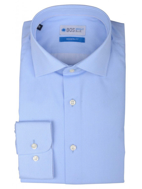 Bos Bright Blue Blue wesley shirt dressual 20106we47bo/210 l.blue licht blauw 160177 large