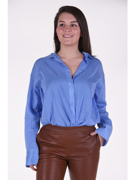Forte_Forte Blouse 7287 blauw 7287 large