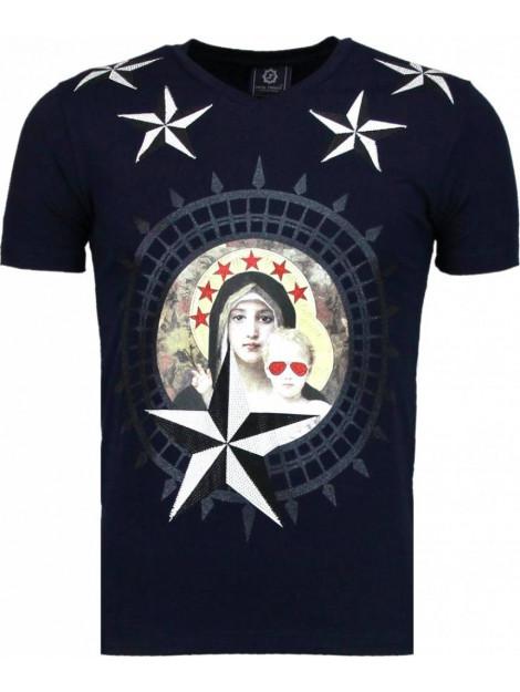 Local Fanatic Holy mary rhinestone t-shirt 5097N large
