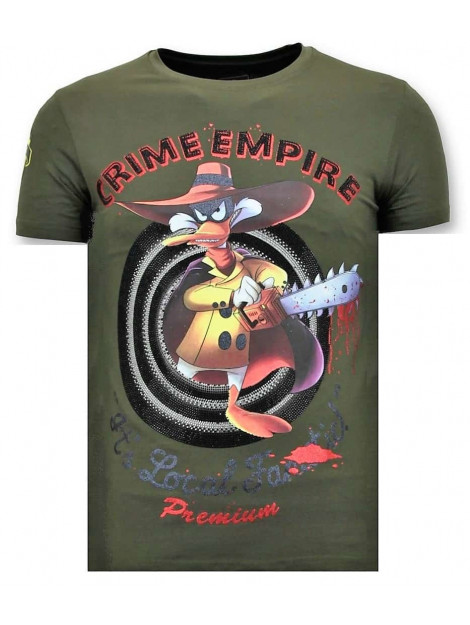 Local Fanatic T-shirt crime empire 11-6389G large