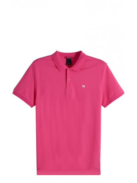 Scotch & Soda Polo met korte mouwen roze 149073 large