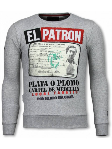 Local Fanatic Narcos billionaire rhinestone sweater 13-6200G large