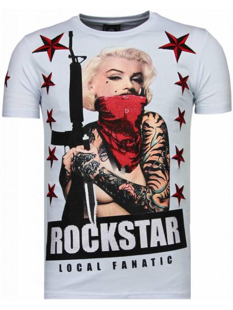 Local Fanatic Marilyn rockstar rhinestone t-shirt 6005W large