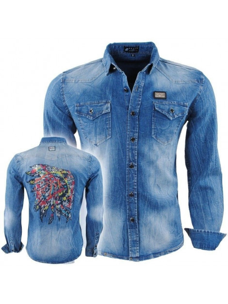 Bravo Jeans Heren Trui Ronde Hals Sweat Slim Fit