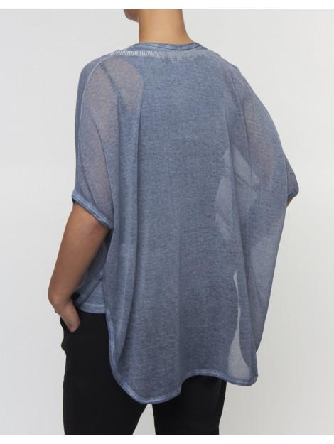 Please Top m45 fine knit denim deluxe M4529LI324-0021 large