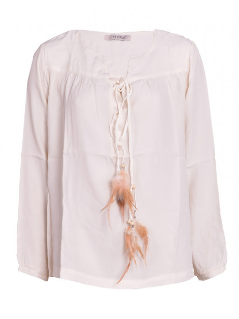 Please Blouse feather off white C908H254-123 large