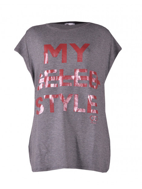 Please T-shirt my celeb style anthracite A3812091-Antracite large