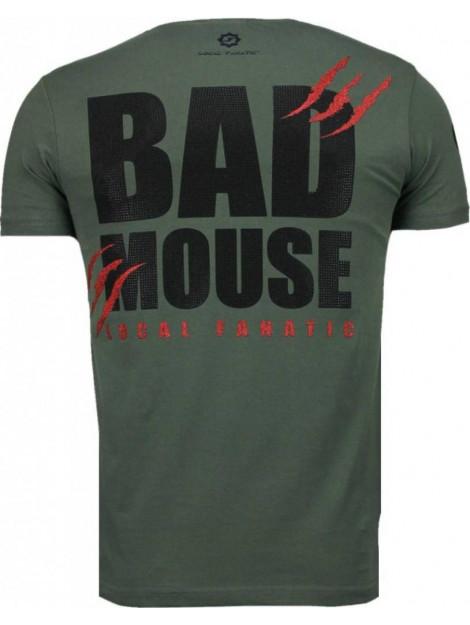 Local Fanatic Bad mouse rhinestone t-shirt 5090G large