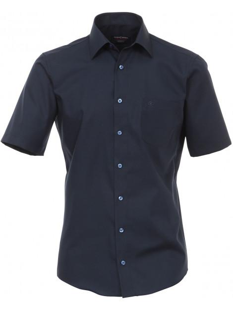 Casamoda Heren overhemd non iron korte mouw modern fit blauw CM.008570.109-41 large