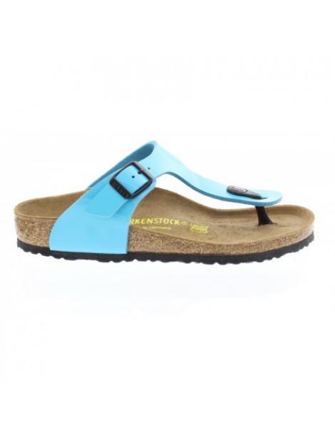 Birkenstock Slipper kids gizeh blue lak narrow blauw 4052001282035 large