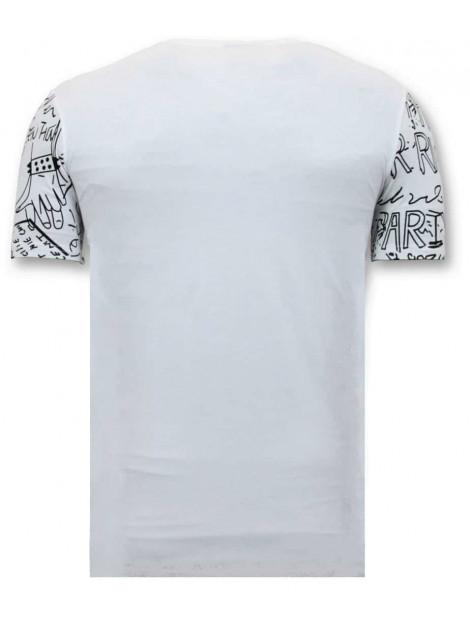 Enos T-shirt doodskop rhinestones F-7356-Z large