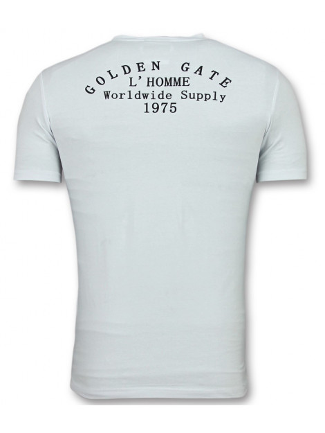 Enos Te t-shirts slim fit shirt met glitter F-567 large