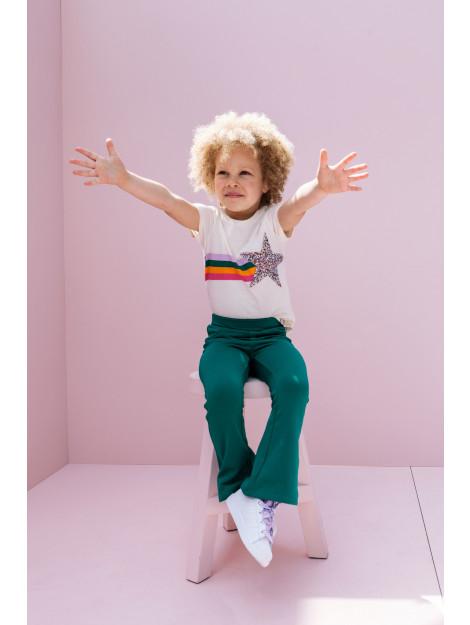 Looxs Revolution Off/white t-shirt met ster voor meisjes in de kleur 2012-7472-01701792 large