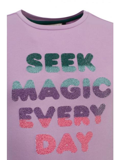 Looxs Revolution Lila t-shirt voor meisjes in de kleur 2012-7458-610610104 large