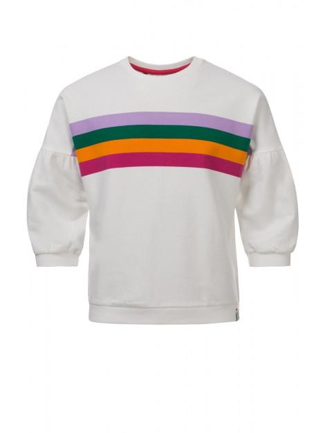 Looxs Revolution Off/white sweater met gekleurde strepen voor meisjes in de kleur 2012-7363-017017128 large
