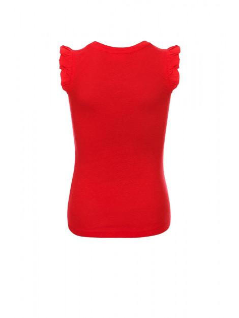 Looxs Revolution Rode linnen tanktop voor meisjes in de kleur 2012-5459-200200176 large