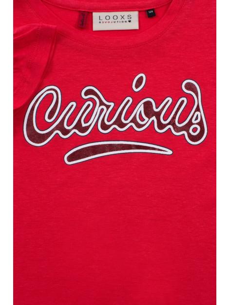 Looxs Revolution Rood linnen t-shirt voor meisjes in de kleur 2012-5439-200200116 large