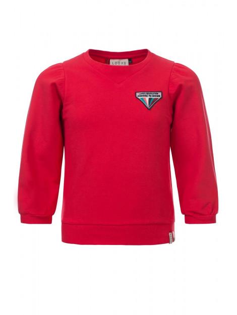 Looxs Revolution Rode sweater met pofmouw voor meisjes in de kleur 2012-5357-200200152 large