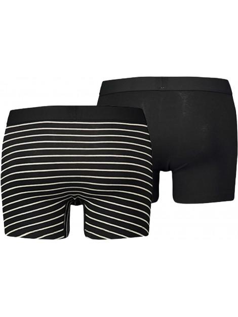Levi's 2 pack boxer shorts vintage stripe jet black 971001001-884 large