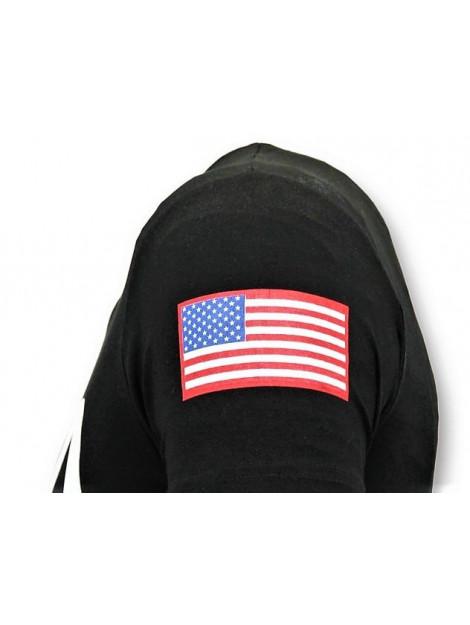 Local Fanatic Bedrukte t-shirt nasa american flag shirt 11-6396Z large