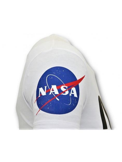 Local Fanatic T-shirt met opdruk nasa american flag shirt 11-6396W large