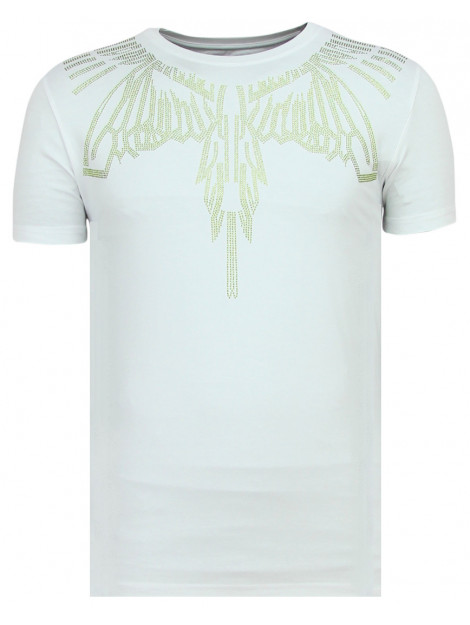 Local Fanatic Eagle glitter strakke t-shirt 11-6359W large