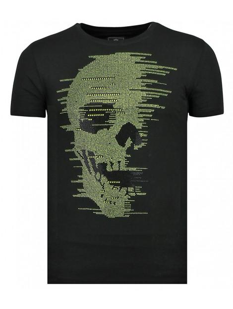 Local Fanatic Skull glitter t-shirt 11-6338Z large