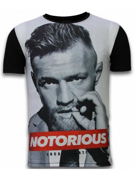 Local Fanatic Mcgregor notorious digital rhinestone t-shirt 11-6288Z large