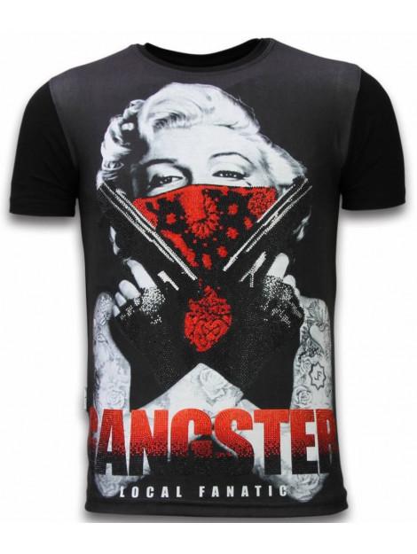 Local Fanatic Gangster marilyn digital rhinestone t-shirt 11-6287Z large