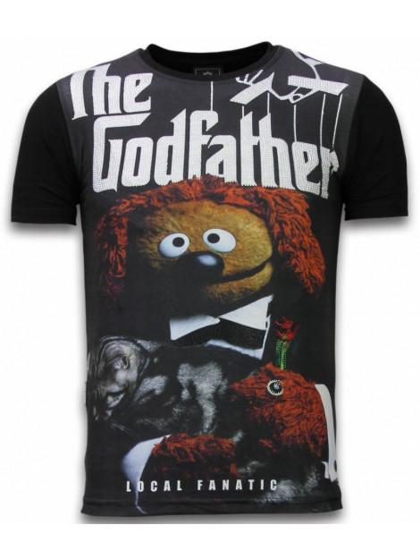 Local Fanatic The godfather dog digital rhinestone t-shirt 11-6279Z large
