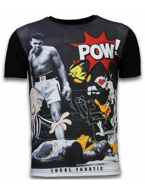 Local Fanatic Ali vs. cartoons digital rhinestone t-shirt 11-6277Z large