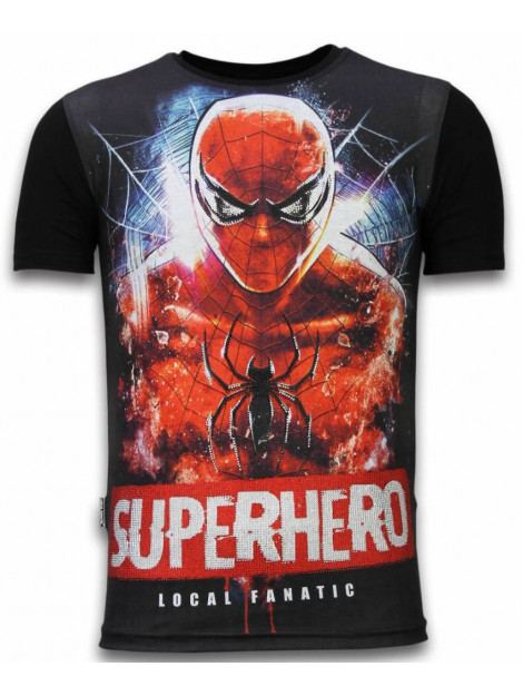 Local Fanatic Superhero digital rhinestone t-shirt 11-6276Z large