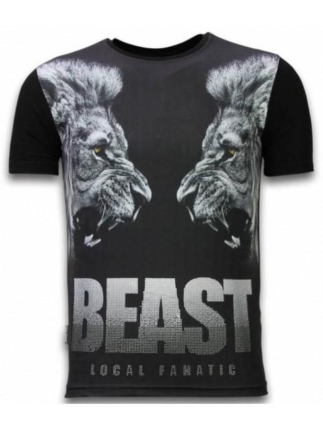 Local Fanatic Beast digital rhinestone t-shirt 11-6274Z large