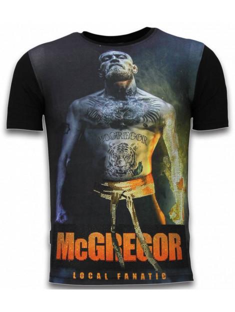 Local Fanatic Mcgregor fire arm digital rhinestone t-shirt 11-6269Z large